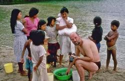 Kærlighedsøen i Rio Tena