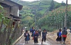 Skolebørn i Andes