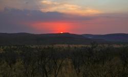 Parti fra Zebra Lodge solnedgang Sydafrika