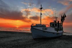Thorup Strand ved solnedgang
