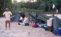 Campen ved Caño Bocon