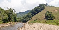 Parti fra Quebrada Aquas Caliente i Caqueta provinsen