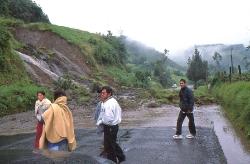 Jordskred i Andes