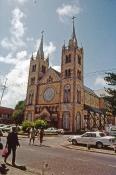 Domkirken i Paramaribo fra nybygger tiden og er bygget i træ