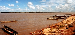 Maroni River grænseflod til Fransk Guiana